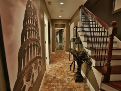 hallway with staircase leading up