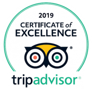2019 Certificate of Excellence badge for TripAdvisor