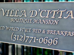 Villa D'Citta Boutique Mansion sign