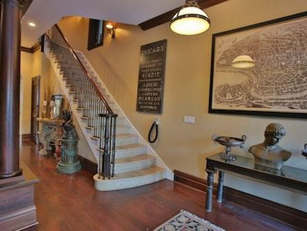 Villa Entry Foyer with beautiful staircase leading upstairs