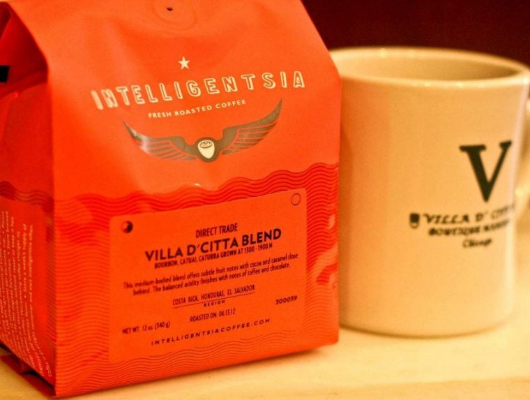 Villa D'Citta Blend coffee and mug
